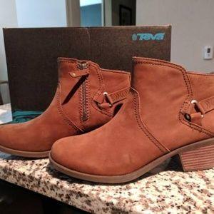 Brown Teva Foxy Low Waterproof Leather Boots